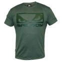 Bad Boy Eyes Tee Shirt - Green Marl