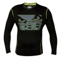 Bad Boy Carbon Rash Guard - L/S - Sort/Neon/Gul